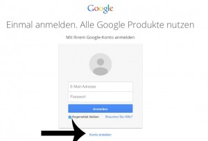 Google Konto anlegen
