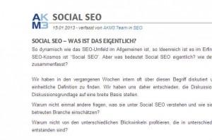Social SEO - nur ein weiteres Buzzword in 2013?