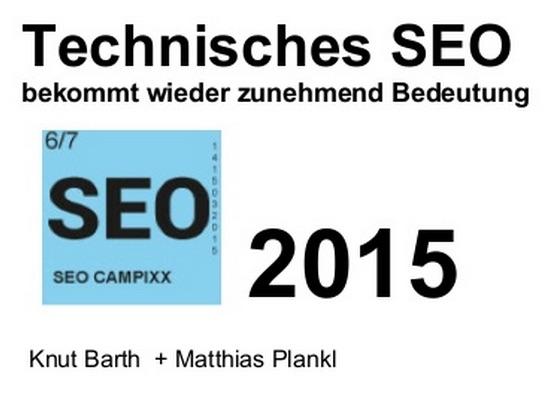 Technisches SEO Campixx 2015