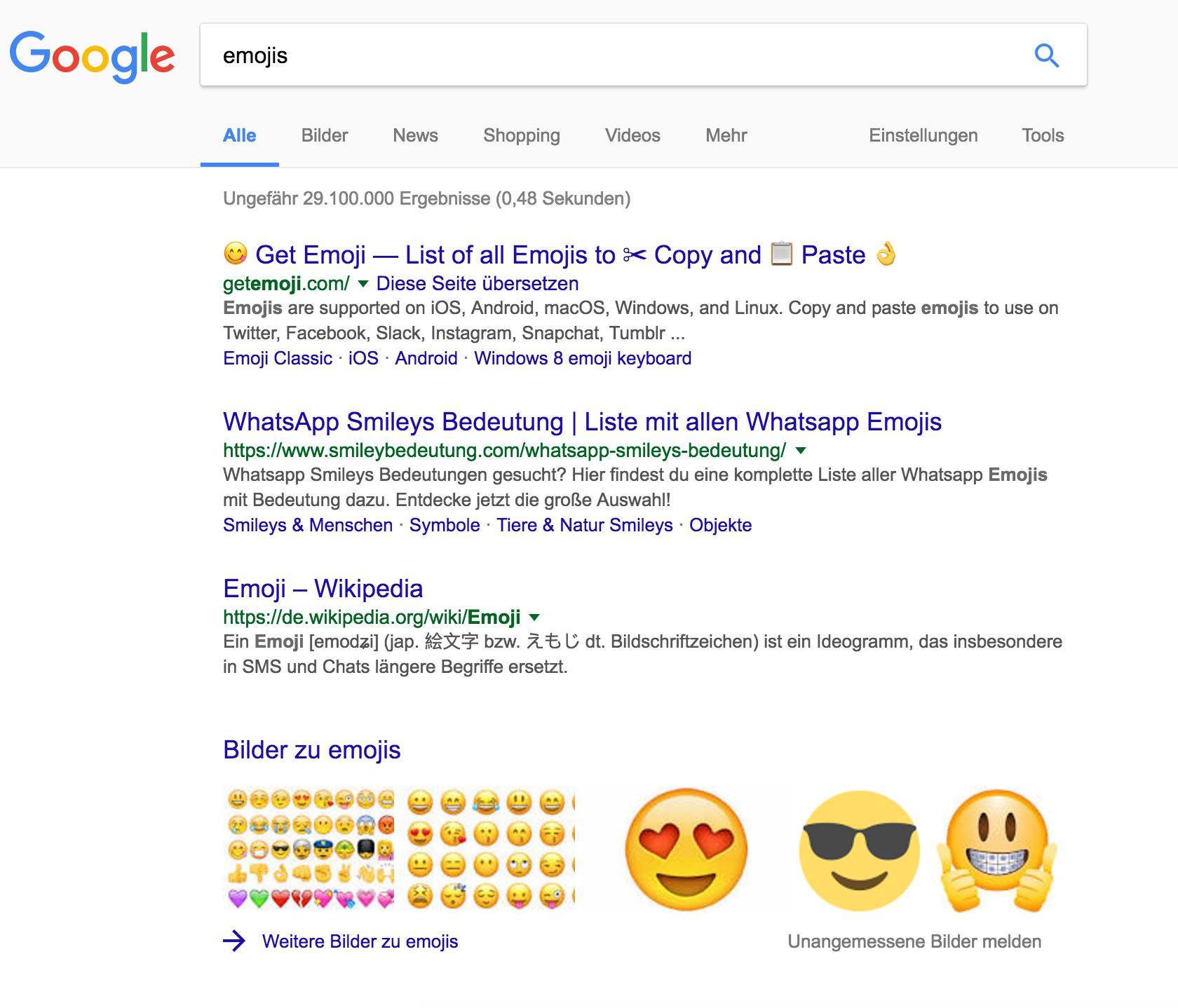 Emoji Symbole